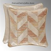 Sunrise Coral Chevron Pillow 18 Square