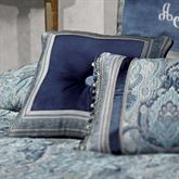 Yorkshire Tufted Pillow Dark Blue 18 Square