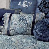 Yorkshire Ball Tassel Tailored Pillow Dark Blue Rectangle