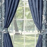 Yorkshire Solid Color Curtain Pair Dark Blue 98 x 84