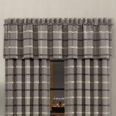 Sutton Plaid Tailored Valance Gray 88 x 23.5