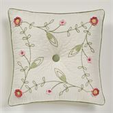 Posy Tufted Accent Pillow Natural 18 Square