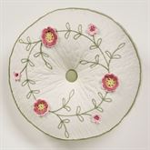Posy Gusseted Tufted Pillow Natural Round