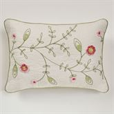 Posy Piped Pillow Natural Rectangle