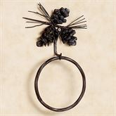 Pine Cone Towel Ring Brown