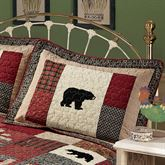 Cabin Fever Quilted Sham Multi Warm Standard
