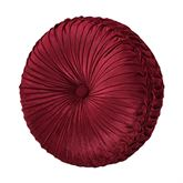 Maribella Pleated Tufted Pillow Ruby Round