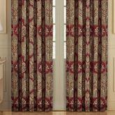Maribella Wide Tailored Curtain Pair Ruby 100 x 84