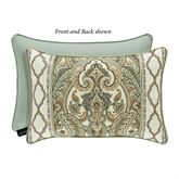 Vienna Pieced Piped Pillow Multi Warm Rectangle