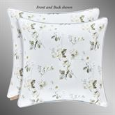 Eva Reversible Floral Piped Pillow Blue 20 Square