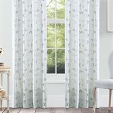 Eva Wide Tailored Curtain Pair Blue 100 x 84