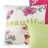 Watercolor Garden Beautiful Embroidered Pillow Multi Bright 16 Square