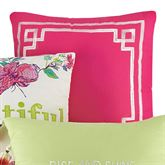 Watercolor Garden Framed Embroidered Pillow Multi Bright 16 Square