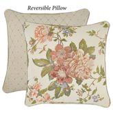 Carlotta Reversible Floral Jacquard Pillow Light Almond 18 Square
