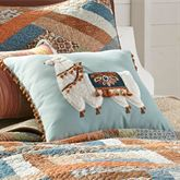 Sienna Llama Pillow Multi Warm 18 Square