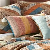 Sienna Tasseled Quilted Pillow Multi Warm Rectangle