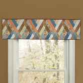 Sienna Quilted Tailored Valance Multi Warm 60 x 15