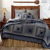 Columbus Patchwork Quilt Navy