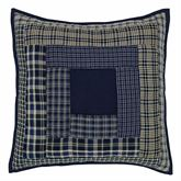 Columbus Quilted Pillow Navy 16 Square