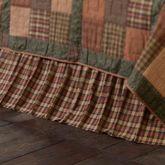 Crosswoods Gathered Bedskirt Multi Warm