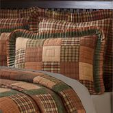 Crosswoods Flanged Quilted Sham Multi Warm
