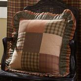 Crosswoods Flanged Patchwork Pillow Multi Warm 18 Square