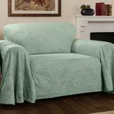 Elegant Damask Furniture Cover Celadon Loveseat