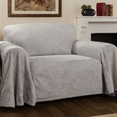 Elegant Damask Furniture Cover Gray Loveseat