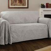 Elegant Damask Furniture Cover Gray Sofa