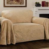 Elegant Damask Furniture Cover Straw Loveseat