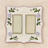 Enchanted Rose Double Dimmer Rocker Lavender