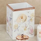 Blush and Blooming Wastebasket Multi Pastel