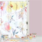 Blush and Blooming Shower Curtain Multi Pastel 72 x 72