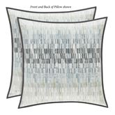 Flatiron Reversible Abstract Pillow Celestial Blue 20 Square