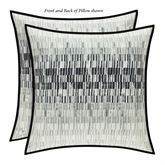 Flatiron Black Reversible Abstract Pillow 20 Square