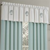 Waters Edge Tailored Valance Off White 72 x 18