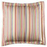Hillhouse Striped Flanged European Sham Multi Bright