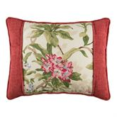 Hillhouse Pieced Dark Red Piped Pillow Rectangle