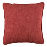 Hillhouse Dark Red Piped Pillow 16 Square