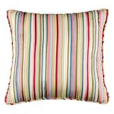 Hillhouse Striped Piped Pillow Multi Bright 18 Square