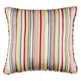 Hillhouse Striped Piped Pillow Multi Bright 18 Square