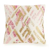 Bellisima Abstract Embroidered Pillow Multi Bright 16 Square