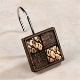 Zambia Shower Curtain Hook Set Copper Set of Twelve