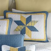 Sunny Star Patchwork Quilted Sham Federal Blue Standard