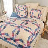 Michelle Wedding Ring Patchwork Quilt Cream