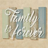 Sentiments Coastal Family Wall Plaque Sign Ivory Multi Cool