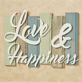 Sentiments Coastal Love Wall Plaque Sign Ivory Multi Cool