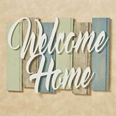 Sentiments Coastal Welcome Wall Plaque Sign Ivory Multi Cool