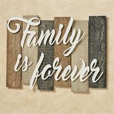 Sentiments Urban Family Wall Plaque Sign Ivory Black Tan