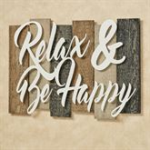 Sentiments Urban Relax Wall Plaque Sign Ivory Black Tan